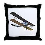 Pilot Biplane Throw Pillow