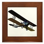 Pilot Biplane Framed Tile