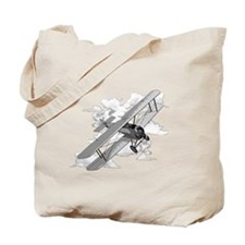Vintage Biplane Tote Bag