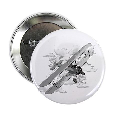 "Vintage Biplane 2.25"" Button"