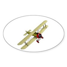 Biplane Oval Decal