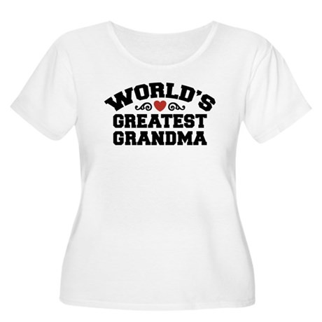 World's Greatest Grandma Women's Plus Size Scoop N