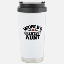 World's Greatest Aunt Stainless Steel Travel Mug