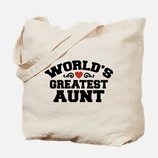 World's Greatest Aunt Tote Bag