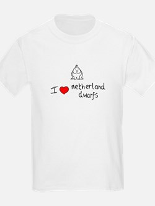 I Heart Netherland Dwarf Rabbits Kids T-Shirt