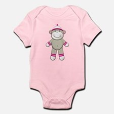 Pink Sock Monkey Infant Bodysuit