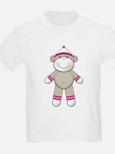 Pink Sock Monkey T-Shirt