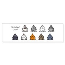 Netherland Dwarf Colors Bumper Bumper Sticker