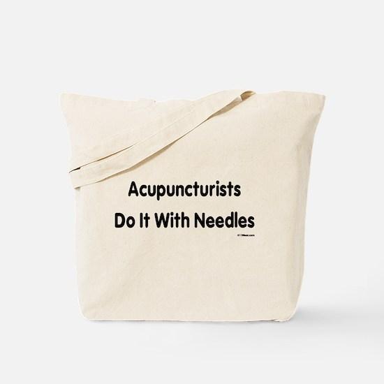 Cute Acupuncturist Tote Bag
