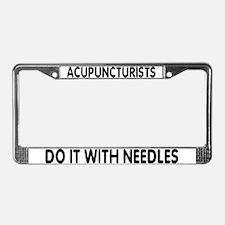 Cute Acupuncturist License Plate Frame