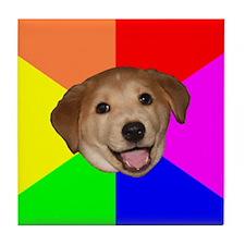 Advice Dog Tile Coaster