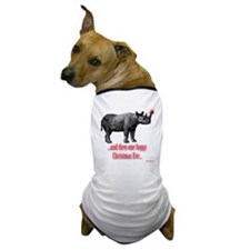 Red Nosed Rhino Dog T-Shirt