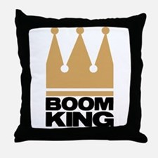 Boom King Throw Pillow