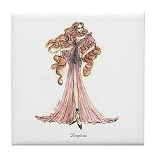 Cute Fashion illustration Tile Coaster