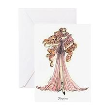 Cute Fashion illustrator Greeting Card