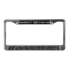 2nd Amendment License Plate Frame