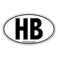 H.B. - Huntington Beach Oval Decal