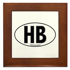 H.B. - Huntington Beach Framed Tile