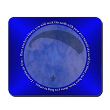 Paragliding Blue Leonardo da Vinci Mousepad