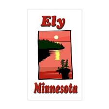 Ely Minnesota Rectangle Decal