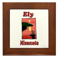 Ely Minnesota Framed Tile