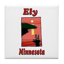Ely Minnesota Tile Coaster