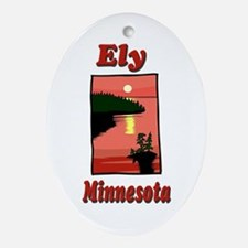 Ely Minnesota Oval Ornament