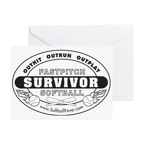 Fastpitch Softball Survivor Greeting Cards (Packag