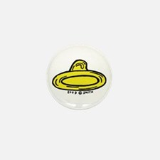Right Leaning Condom Mini Button (10 pack)