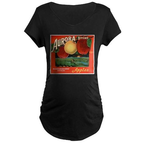 Vintage Fruit & Vegetable Lab Maternity Dark T-Shi