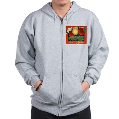Vintage Fruit & Vegetable Lab Zip Hoodie