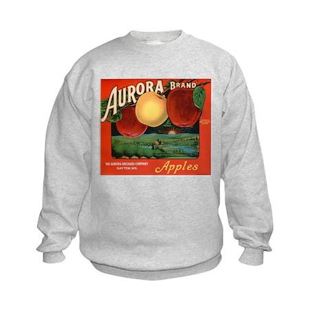 Vintage Fruit & Vegetable Lab Kids Sweatshirt