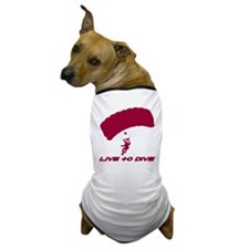 "Red ""Live to Dive"" Dog T-Shirt"