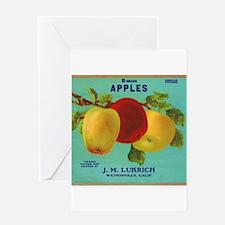 Vintage Fruit & Vegetable Lab Greeting Card