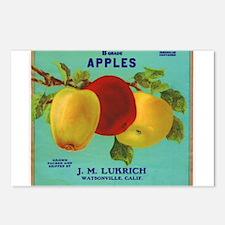 Vintage Fruit & Vegetable Lab Postcards (Package o