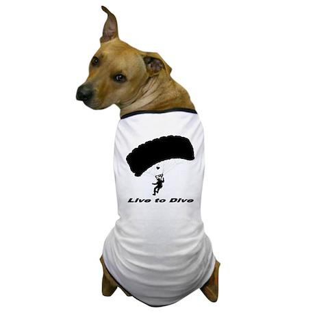 "Black ""Live to Dive"" Dog T-Shirt"