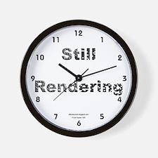 Still Rendering Wall Clock