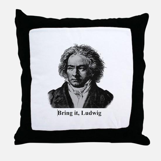Cute Composer Throw Pillow
