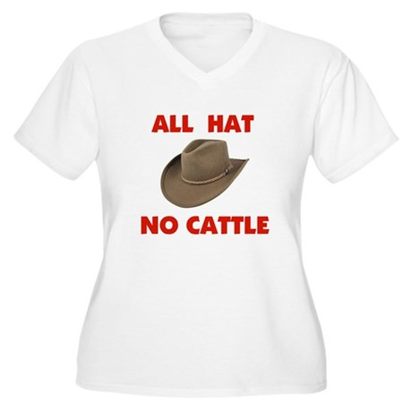 REAL COWBOYS HAVE CATTLE Women's Plus Size V-Neck
