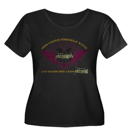 Makes Her Arms Strong Women's Plus Size Scoop Neck