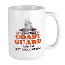 My Coast Guard Grandson Answered Mug