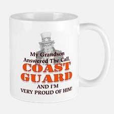My Coast Guard Grandson Answered Mug