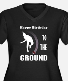 Happy Birthday To The Ground Women's Plus Size V-N