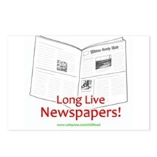 Long Live Newspapers! Postcards (Package of 8)