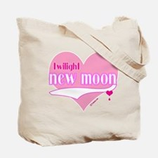 Twilight Retro Purple Heart with Flowers Tote Bag