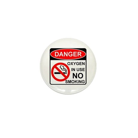 Oxygen in Use Mini Button (10 pack)