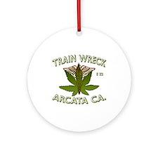 train wreck Ornament (Round)