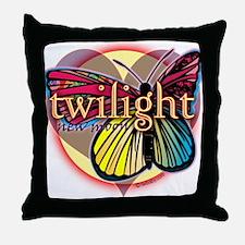 New Moon Butterfly Heart Throw Pillow