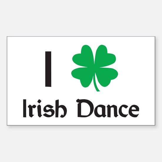 Irish Dance Rectangle Decal