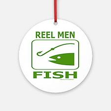 REEL MEN FISH Ornament (Round)
